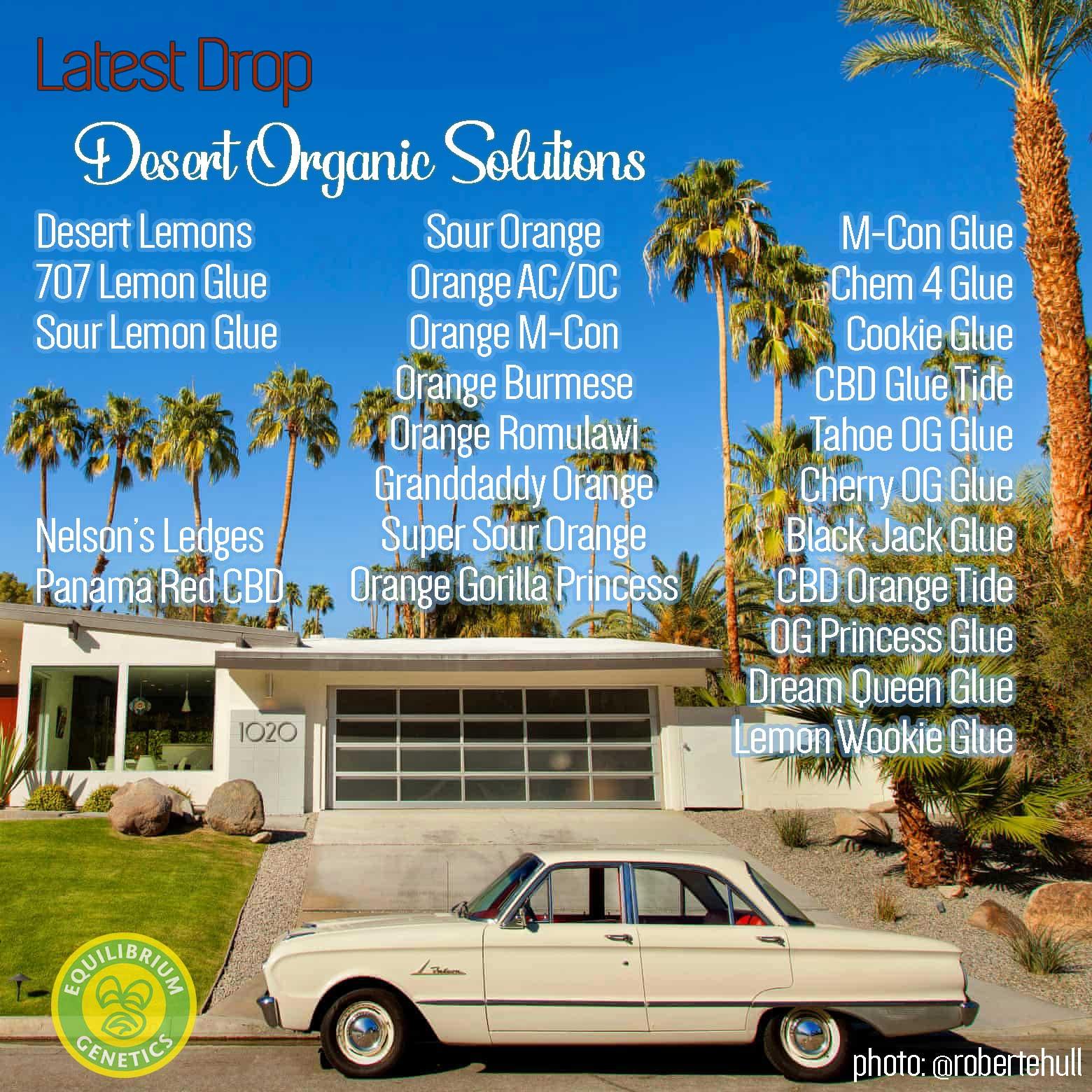 Latest Drop: Desert Organic Solutions