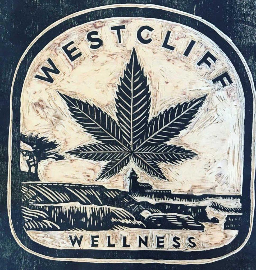 West Cliff Wellness wood block