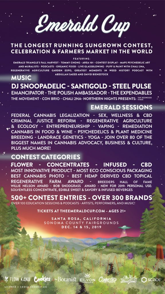 Flyer for The Emerald Cup