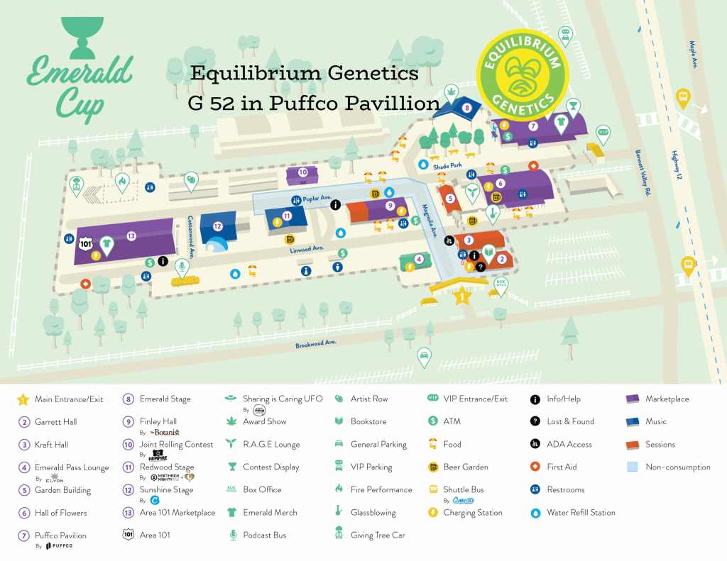 Festival Map for The Emerald Cup